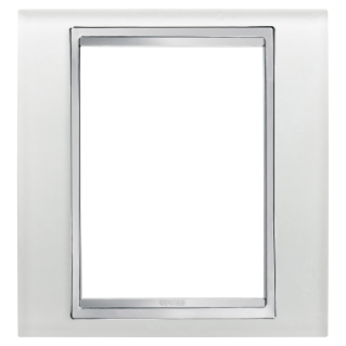 LUX PLATE - BRITISH STANDARD - GLASS - 1 GANG  - ICE - CHORUS