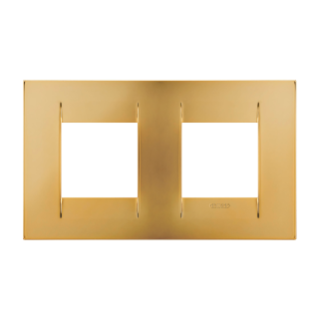 GEO INTERNATIONAL PLATE - IN METALLISED TECHNOPOLYMER - 2+2 GANG HORIZONTAL - GOLD - CHORUS