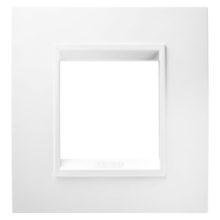 PLACCA LUX INTERNATIONAL - IN TECNOPOLIMERO - 2 POSTI - BIANCO LATTE MONOCHROME - CHORUS