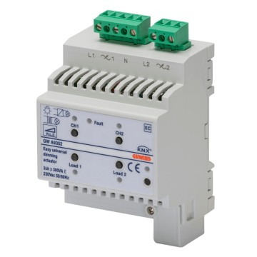 Easy universal dimmer actuators - IP20 - DIN rail mounting