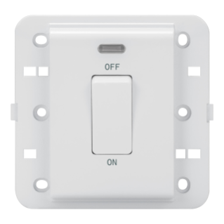 ONE-WAY SWITCH 2P 250V ac - BRITISH STANDARD - 20 A - 1 GANG - BACKLIT - WHITE - CHORUS