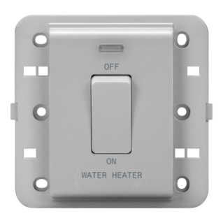 ONE-WAY SWITCH 2P 250V ac - BRITISH STANDARD - 20 A - 1 GANG - WATER HEATER - TITANIUM - CHORUS