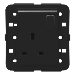 SWITCHED SOCKET-OUTLET - BRITISH STANDARD - 2P+E 13 A - BLACK - CHORUS