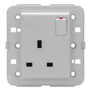 SWITCHED SOCKET-OUTLET - BRITISH STANDARD - 2P+E 13 A - TITANIUM - CHORUS