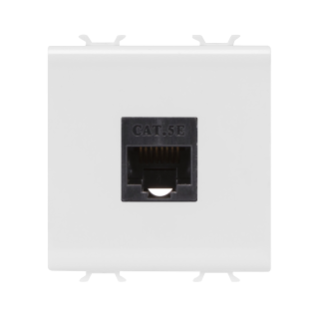 RJ45 SOCKET OUTLET - CATEGORY 5e - UTP - 2 MODULES - WHITE - CHORUS