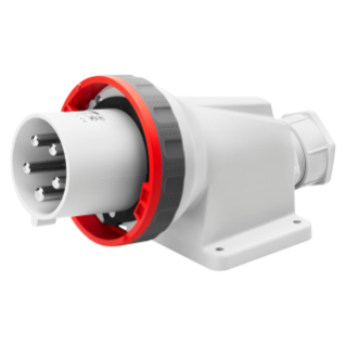 90° ANGLED SURFACE MOUNTING INLET - IP67 - 3P+E 63A 380-415V 50/60HZ - RED - 6H - MANTLE TERMINAL