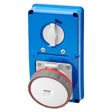 Interlocked switched vertical socket-outlets without bottom - with rotary switch and fuse-holder base - 63A - 50/60Hz - IP67