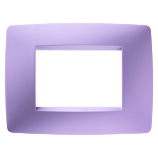 ONE PLATE - IN TECHNOPOLYMER - 3 GANG - AMETHYST PURPLE - CHORUS