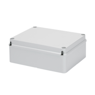 JUNCTION BOX WITH PLAIN SCREWED LID - IP56 - INTERNAL DIMENSIONS 380X300X120 - SMOOTH WALLS - GWT960ºC - GREY RAL 7035