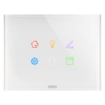 ICE TOUCH PLATE KNX - GLASS - 6 TOUCHES AREA - WHITE - CHORUS