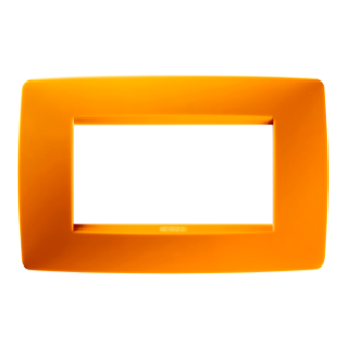 PLAQUE ONE RECTANGULAIRE - EN TECHNOPOLYMÈRE - 4 MODULES - ORANGE OPAL - CHORUS