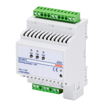 KNX dimmer actuator for electronic ballast 1 - 10 v - 3 channels - IP 20 - DIN rail mounting