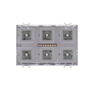 PUSH BUTTON PANEL MODULE  - KNX - TOUCH - 6 CHANNELS - 3 MODULES - WITH INTERCHANGEABLE SYMBOL - CHORUS