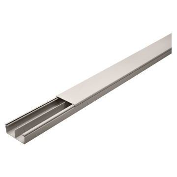 PVC sill-type double trunking with cover for ceiling and surface mounting - Length: 2 metres