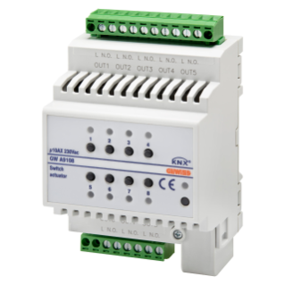 ACTUATOR FOR GENERAL LOADS - 8 CHANNELS - 10AX - 4 MODULES - DIN RAIL MOUNTING