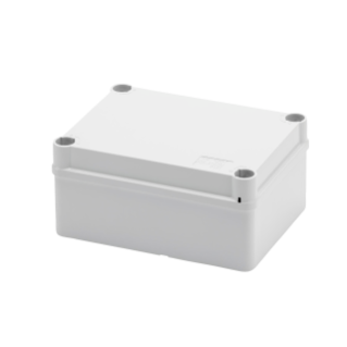 JUNCTION BOX WITH PLAIN QUICK FIXING LID - IP55 - INTERNAL DIMENSIONS 150X110X70 - SMOOTH WALLS - GREY RAL 7035