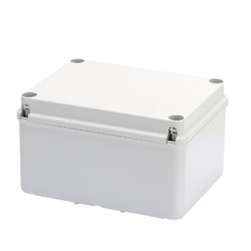Junction boxes with high capacity bottom and plain screwed lid - Grey RAL 7035
