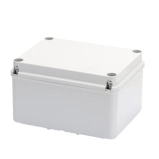JUNCTION BOX WITH HIGH CAPACITY BOTTOM AND PLAIN SCREWED LID - IP56 - INTERNAL DIMENSIONS 190X140X110 - SMOOTH WALLS - GREY RAL 7035