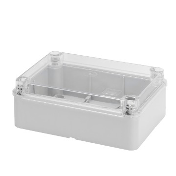 Boxes with smooth walls for junctions and for electric and electronic equipment Plain screwed lid - Grey RAL 7035