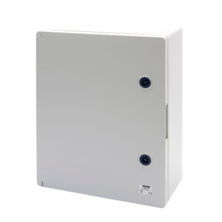 WATERTIGHT BOARD WITH BLANK DOOR FITTED WITH LOCK -  GWPLAST 120 - 396X474X160 - IP55 - GREY RAL 7035