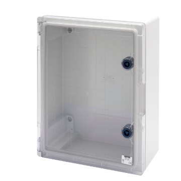 Watertight boards with transparent door fitted with lock - Grey RAL 7035