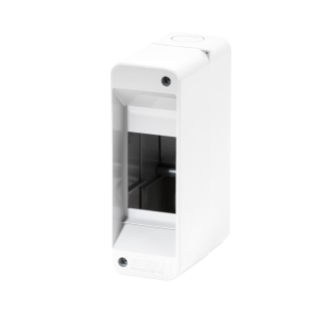 ENCLOSURE PRE-ARRANGED FPR TERMINAL BLOCK - WITH DOOR - WALLS WITH PERFORATION CENTER - 2 MODULES - IP40