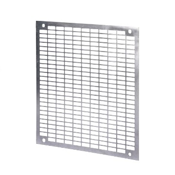 Perforated back-mounting plates in galvanised steel for the assembly of non-modular equipment