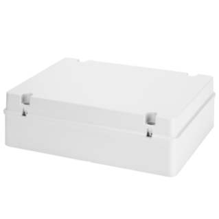 JUNCTION BOX WITH PLAIN SCREWED LID - IP56 - INTERNAL DIMENSIONS 380X300X120 - SMOOTH WALLS - GREY RAL 7035