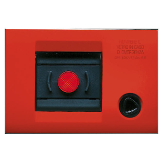 SELF-SUPPORTING WIRED PLATE FOR EMERCENGY - IP40 - RED - PLAYBUS