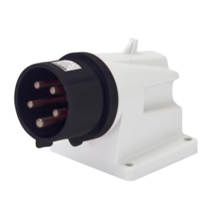 90° ANGLED SURFACE MOUNTING INLET - IP44 - 3P+E 32A 480-500V 50/60HZ - BLACK - 7H - SCREW WIRING