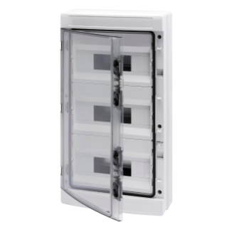 DISTRIBUTION BOARD WITH PANELS WITH WINDOW AND EXTRACTABLE FRAME - WITH TERMINAL BLOCK N (3X16)+(29X10) E (3X16)+(29X10) - (12X3) 36M IP65