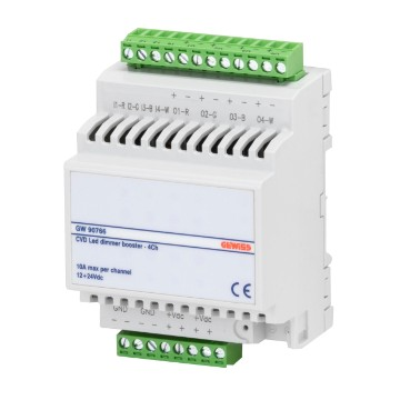 Booster for CVD LED dimmer actuators 4x10 A - IP20 - DIN rail mounting