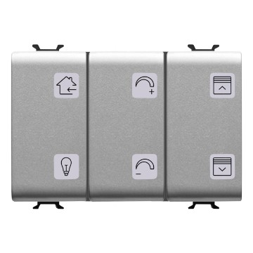 EASY 6-channel push-button panels with interchangeable symbols
