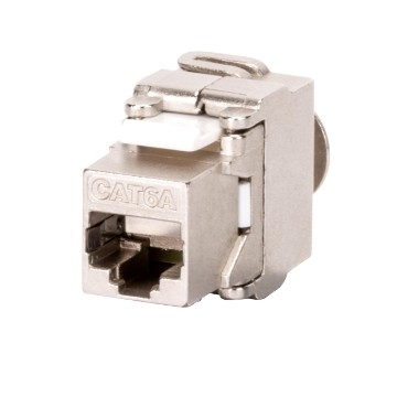 Shielded RJ45 FTP sockets T568A/B