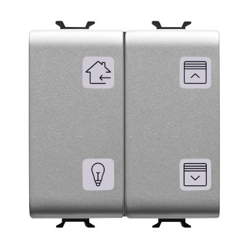 Easy 4-channel push-button panels with interchangeable symbols