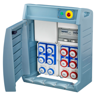 Q-BOX 4 - WITH TERMINAL BLOCK - WIRED - 6 2P+E 16A IEC 309 + 6 3+E 16A IEC 309 - IP55
