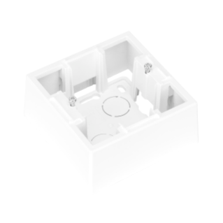 WALL MOUNTING BOX FOR DAHLIA PLATE - 1 GANG - WHITE