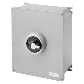 ROTATORY ISOLATOR - HP- SURFACE-MOUNTING - COMMAND - METAL BOX - 125A 3P - LOCKABLE BLACK KNOB - IP66