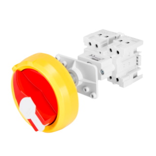ROTARY CONTROL SWITCH - FOR DISTRIBUTION BOARD - COMMAND - RED PADLOCKABLE  KNOB - 2P 4M EN50022 32A - IP65
