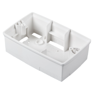WALL-MOUNTING BOX FOR ONE PLATE - ITALIAN STANDARD 4 GANG - WHITE - CHORUS