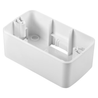 WALL-MOUNTING BOX - FOR TOP SYSTEM PLATE - 4 GANG - CLOUD WHITE - SYSTEM