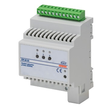KNX 3-channel 16 AX actuator with energy meter - DIN rail mounting