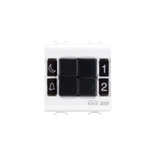 PUSH-BUTTON PANEL - EASY - 4 CHANNELS - 2 MODULES - WHITE - CHORUS