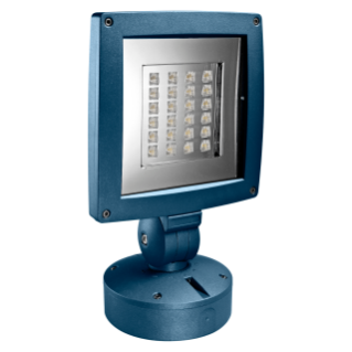 SATURNO - LED - WITH BASE - STREET OPTIC - 24 LED - 3000K (CRI 90) - 220/240V- 50/60HZ - IP65 - CLASS II - BLUEGREEN