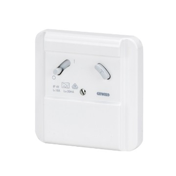 Wall-mounting RCD safety unit - Type A - Colour polar white - IP41