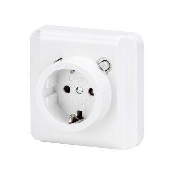 Flush-mounting RCD safety socket-outlets - Type A - Colour polar white - IP21