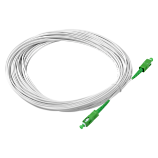 SC/APC - SC/APC SINGLE-FIBER OPTIC CABLE - 10M - WHITE