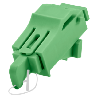 SC/APC ANGLED ADAPTER - GREEN (RAL 6018)