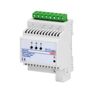 SWITCH ACTUATOR WITH ENERGY METER - 3 CHANNELS - 16AX - KNX - 4 MODULES - DIN RAIL MOUNTING