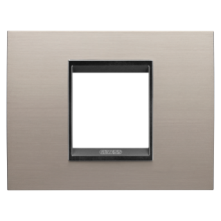 LUX PLATE - METAL - 2 MODULES - BRUSHED ALUMINIUM LAVY - CHORUS